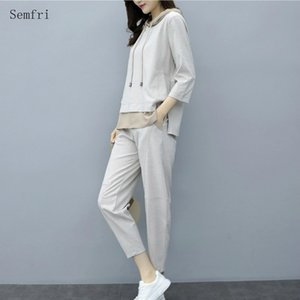 Semfri Tracksuit Women Spring Autumn Leisure Sports Two Piece Set Lady Fashion Korean Version Loose Style Temperament Suit 201007