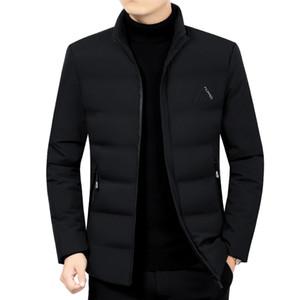 Men Winter Parka mid-Length 3 colors Windproof Warm Jacket Outwear Coat Plus Size 4XL 201104