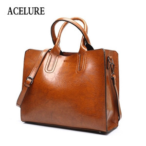 ACELURE Leather Handbags Big Women High Quality Casual Female Bags Trunk Tote Spanish Brand Shoulder Bag Ladies Large Bolsos Q1104