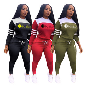 Women Designer Tracksuit Sets Long Sleeve Hooded Hoodies and Legging Pants Two Piece Outfit Brand Letters Sweatshirts Trousers Suit D102104