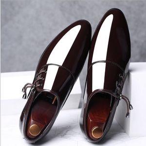 2021 Men Dress Shoes Men Formal Shoe Leather Fashion Groom Wedding Shoes Men Moccasin Casual Driving Oxford Shoes Plus Size 38-48