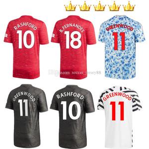 2020 2021 Fille 4th Sancho Bruno Fernandes MANC Enfants Femmes Quatrième Jersey Soccer Jersey Rashford Jerseys Hester Kits T-shirts de football 20 21 UTD