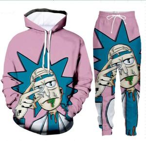 2020 neue Art und Weise Männer Harajuku Hoodies Rick und Morty 3D Printed T-Shirt für Männer-Frauen-Tropfen Verschiffen XR01