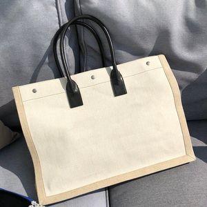 45cm classic Beach bags Left bank shopping totes bags large capacitu handbags purses travel luggage bag single shoulder bag