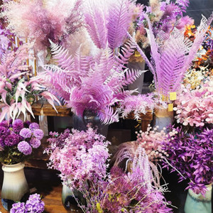 Pueple series DIY wedding decoration artificial flower Plastic silk flowers Various styles home wedding arch flower row material