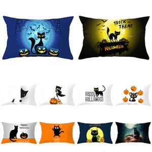 Halloween Cartoon Series Waist Pillow 2020 Case Peach Skin Pillow Case Home Pillow Cover