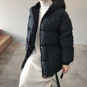 Hot Sale 2020 Jacket Women Streetwear Cotton Padded Winter Warm Coat Female Black Parkas with Sashes Korean Style Womens Clothing