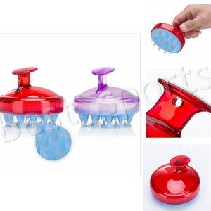 14 estilos escova de massagem de lavagem do cabelo do couro cabeludo Scrub Air Cushion Silicone Shampoo Combs Limpeza Banho Acessórios YYA542 TRANSPORTE MARÍTIMO