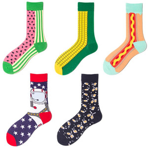 LEOSOXS Couple socks fruit Size 41-46 men's and women's fashion socks Hip hop street fashion cotton skateboard recommended