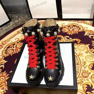 Woman's Leather shoes Lace up Ribbon belt buckle ankle boots factory direct female rough heel round head autumn winter Martin Boots