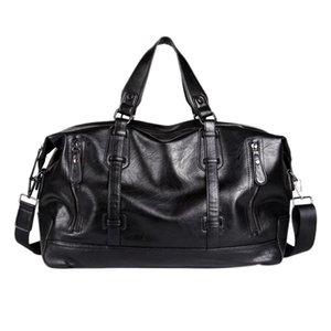 Men's Tote Bag Large Capacity Travel Bag Shoulder Men's Waterproof Pu Handbag Casual Messenger