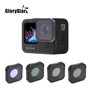 UV CPL ND4 ND8 ND16 ND32 ND64 Night Red Pink Magenta Star for Gopro Hero 9 Black Lens Color Filters Action Camera Accessories