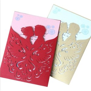 High garde creative wedding invitation card laser cut hollow out cover party invites with envelope for engagement wedding cards