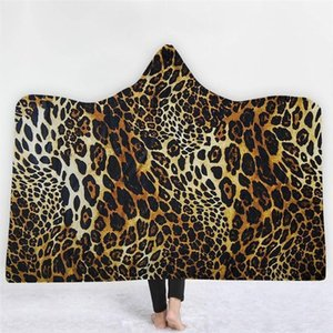 XC Ushio Giyilebilir Seksi Leopar Kış Hoodie Battaniye Kanepe Yatak Örtüsü Noel Polar Kumaş Kapüşonlu Atmak Battaniye Doğum Günü Hediyesi1