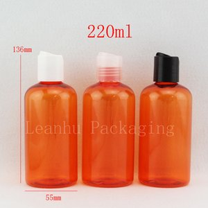 Jacinth Shampoo Lotion Packing Bottle With Plastic Disc Top Cap,220ML Refillable Homemade Water Bottle,Empty Cosmetic Containers