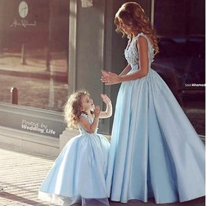 2020 Newest Design Family Matching Wedding Dress for Mother Daughter Dresses Clothes Mum Mom and Daughter Dress Princess Party