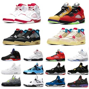 Nike air jordan retro Stock X Neon 4 Mens Basketball shoes Travis scott 4 cactus jack Metallic Pack Rasta Splatter Royalty Black Cat 4s Men Women Sports Designer Sneakers 5.5-13