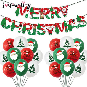 1set Merry Christmas Balloons Santa Claus Elk Christmas Tree Balloons Party Natal Noel Xmas Party Decoration For Home
