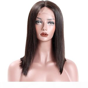 premierwigs Full Lace Human Hair Wigs Pre-plucked Perimeter with Baby Hair Brazilian Hairs Yaki Bob Wigs Natural Hairline With Babyhair