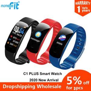 Original MoreFIT C1 Plus Activation Trackers Monitor de ritmo cardíaco SmartWatch Fitness Smart Bracelet vs M5 Watch