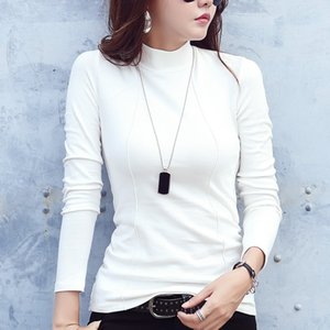 90% Cotton Basic Turtleneck White Sweater for Women Sexy Slim Winter Bottom Top Female Warm Autumn Shirt Pullovers Lady Jumper 201008