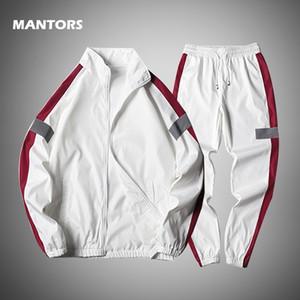 Толстовки набор весенний трексуит Мужчины Двухструктура набор мужская одежда повседневная спортивная одеждашка + спортивные спортивные штаны наряды модный посот в 20110 году