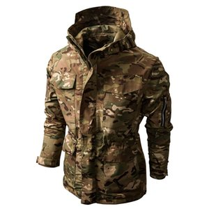 Camouflage jacket Men Hoody Windbreaker Clothing Tactical Jacket Men Waterproof Coat Outdoor Clothing Clothes Hooded Male Coat 201019