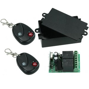 Wireless Remote Control Switch RF 433Mhz AC 220V 2CH Relay Receiver Module and Learning Code Transmitter Remote Control