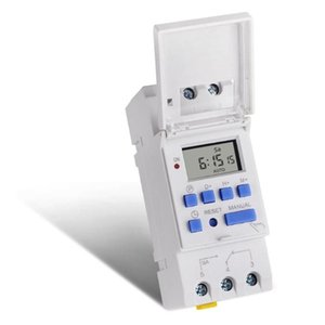 SINOTIMER AC 12~220V Weekly 7 Days Programmable Digital Time Switch Relay Timer Control Din Rail Mount for Electric Appliance