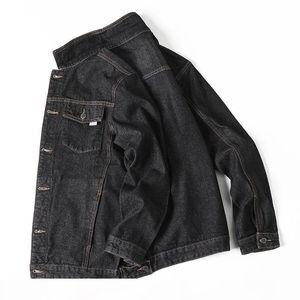 Port& Spring Autumn Mens Denim Jacket Plus Size Trendy Fashion Bomber Ripped Denim Male Cowboy Jeans Big and Tall 6XL 7XL