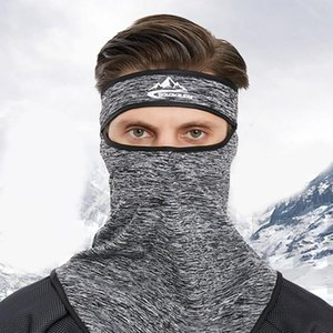 Men Winter Outdoor Cycling Windproof Face Mask Scarf with Headband Plush Lining Ear Warmer Bandana Neck Gaiter Balaclava