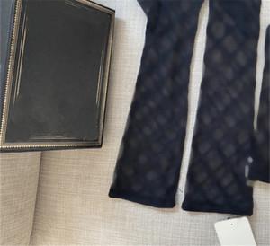Black Tulle Sleeve letras bordado encaje mitones ins moda fino boda fiesta guantes mujeres guantes encantadores