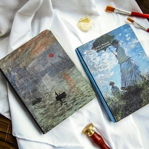 World Famous Painting Notebook Oil Painting Palnner Personal Letter Monnai Book Office Stationery 10x14cm Book
