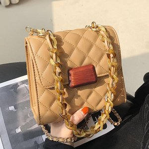 Diamond Chain Small Bag New Fashion All-match Shoulder Bag Online Influencer Crossbody Small Square Women Flap a Single