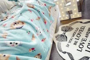 Duffy Bear Flange Velvet Sheet Lunch Cover Blanket Bedspreads Flat Sheet Throwing blankets