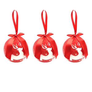 Christmas Tree Hanging Ball Ornaments Decorations Gift New Year Navidad Ball Bauble for DIY Xmas Party with Belts