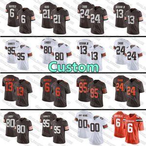 custom 26 Greedy Williams jersey 22 Grant Delpit 19 Bernie Kosar ClevelandBrown 57 Clay Matthews Kareem Hunt Lou Groza Ozzie jersey