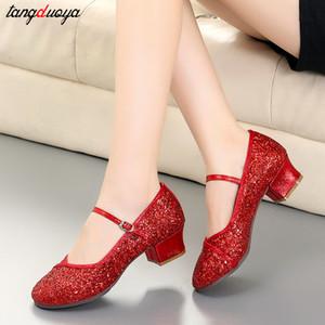 في الهواء الطلق الرقص اللاتيني والرقص السالسا قاعة امرأة جولة اصبع القدم أحذية بالاضافة الى حجم 41 zapatillas موهير 201020