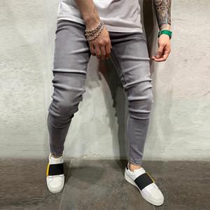 2020 Men Jeans Solid Classic Fashion Designer Denim Skinny Jeans Men Casual High-quality Slim Hip-hop High Street