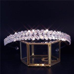 New Luxury Baroque Rhinestone Bridal Crown Tiaras Zircon Crystal Diadem Tiaras Bride Headbands Wedding Hair Accessories Gift