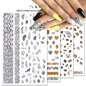 1Pcs New 3D Snake Skin Nail Sticker Decals Sexy Leopard Wild Animals Nail Art Decor Cool Decorations Sliders DIY Manicure