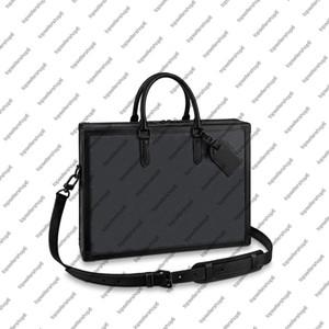 M44952 SOFT TRONCO La cartella degli uomini di sicurezza del messaggero borsa in rilievo pelle bovina borsa Designer caso portafoglio attache Tote Shoulder Bag