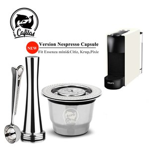 ICAFILAS Espress Capsulas Filtre Recarcarts en acier inoxydable en acier inoxydable pour Nespresso Capsule de café rechargeable Réutilisable Pods 1021