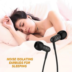 Langsdom Mini Sleeping In-Ear Earphone with Microphone Lightweight Earphones Earbuds 3.5mm Noise cancelling Headset for phone