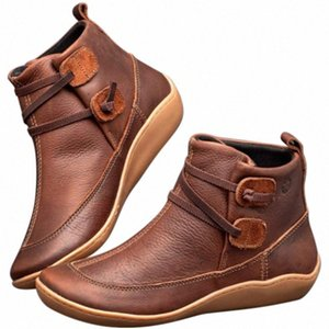 New Hot Women Winter Snow Boots Leather Ankle Spring Flat Shoes Woman Short Boots YAA99 Jt3o#