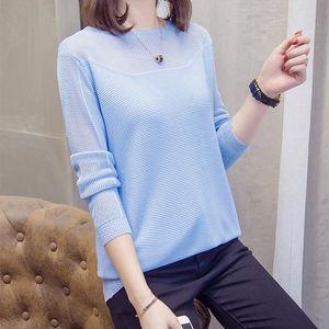 Nkandby Плюс Размер выдалбливают Sexy Пуловеры Женщины свитер осени моды Корейский Chic Knit Топы женские Трикотаж негабаритных Перемычка