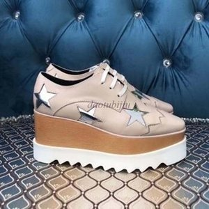 Men Women Casual Shoes Fashion Luxus Sneakers Lace-up Walking Thick bottom Shoes Star pattern Suede Leather Platform Sneaker ZA1