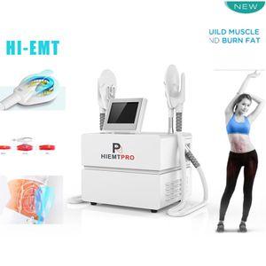 Emslim hi-emt آلة ems تحفيز العضلات الكهرومغناطيسية حرق الدهون الجسم تشكيل رفع الأرداف الذراع الفخذ البطن النحت hiemt