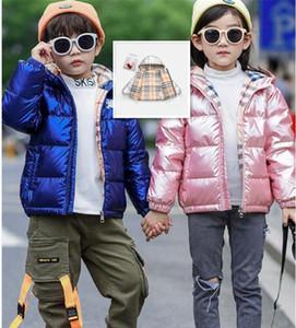 2020 Winter Coat Girl Shiny Down Jaket Hooded Children Boy Winter Coat Kids Boys Girls Outerwear Parka Tops