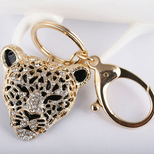 Animal Panther Leopard Rhinestone Keyring Charm Pendant Purse Bag Key Ring Chain Keychain Gift Azl-677